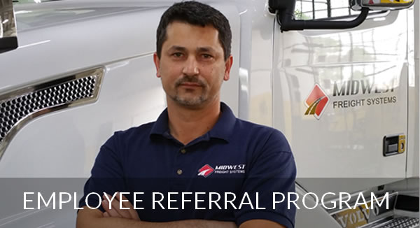 Employee Referal program Midwest Freight Systems